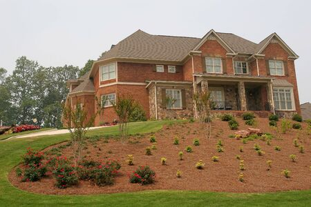 A nice house on a new landscaped hill Stock Photo - 1173483