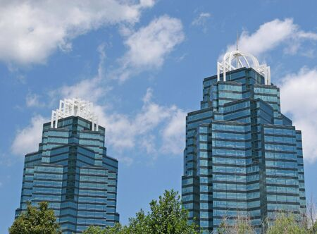 A pair of modern glass office towers Stock Photo - 1194753