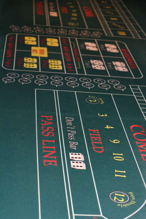 craps: A view of a craps table in a casino Stock Photo