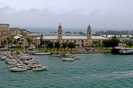 bermuda: View of the old naval dockyard in Bermuda