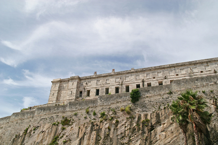 An old abandoned prison on a cliff against the sky Stock Photo - 1497810