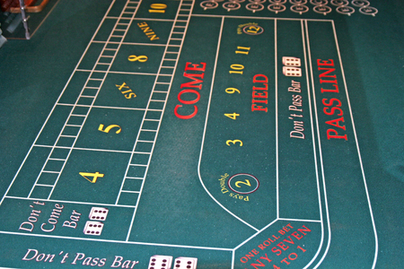 craps: Close up of a craps table in a casino Stock Photo