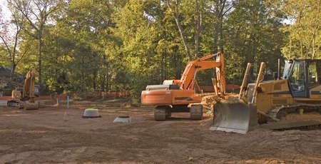 jobsite: Heavy Construction Equipment in a dirt lot
