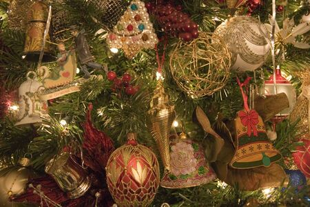 Colorful custom decorations on a christmas tree Stock Photo - 2183229
