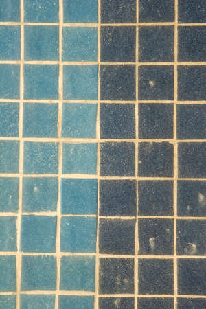 A tile wall with two shades of blue ceramic tile Stock Photo - 2527882
