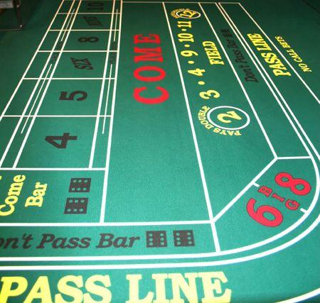 craps: Craps Table in Casino