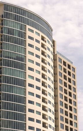 lak�hely: A modern high rise condominium of red white and blue
