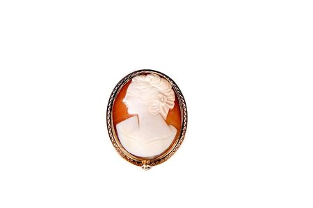 cameo: A traditional cameo on a white background Stock Photo