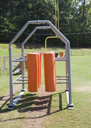 A set of orange dummies used for football practice Reklamní fotografie - 3644665