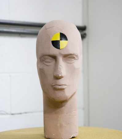 The head from a crash test dummy