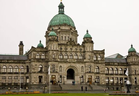 An old massive government building in British Columbia Canada
