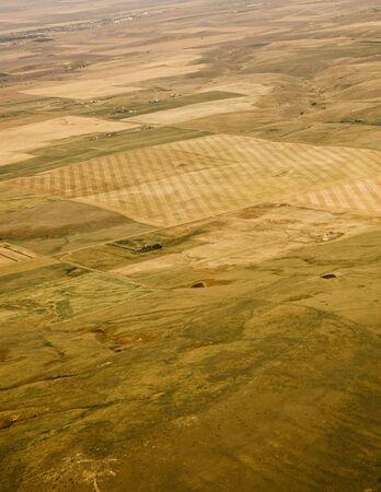 Farmland shot from an aerial view