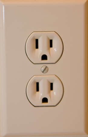 A standard home Electrical Outlet close up Stok Fotoğraf
