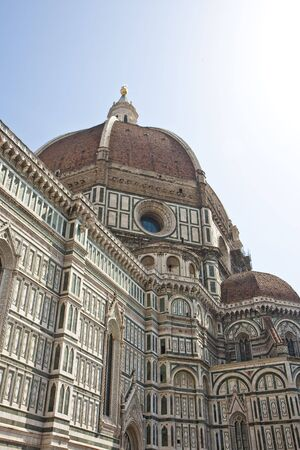 Details on the church of Santa Maria del Fiore or Il Duomo in Florence, Italy