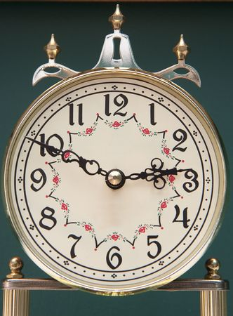 Clock face of a classic anniversary clock