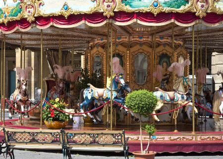 Colorful Carousel in Florence photo