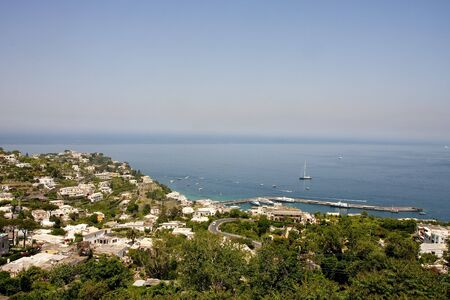 A view across the hilly seaside port at Capri in Italy Stock Photo - 5574212