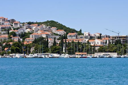 Coastal Town of Dubrovnik Croatia Banco de Imagens