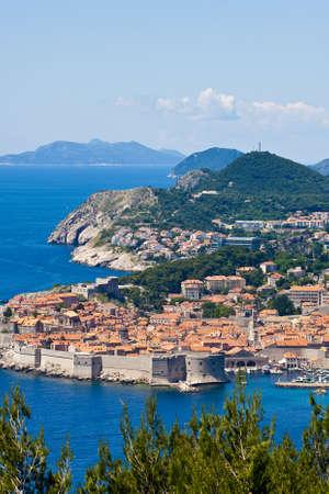 dubrovnik: Coastal Town of Dubrovnik Croatia Stock Photo