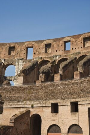 A view of the ancient coliseum in rome italy