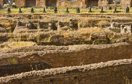 A view of the ancient coliseum in rome italy Banco de Imagens - 5891522