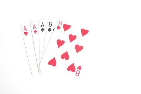 eights: Dead mans mano Aces y ochos Foto de archivo