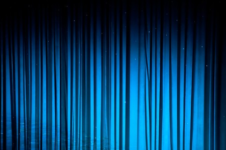 Blue drapes for background or texture