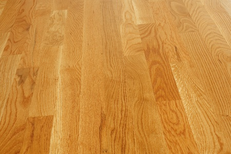 polished: A clean and polished hardwood board floor Stock Photo