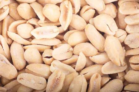Many salted virginia peanuts ready to eat