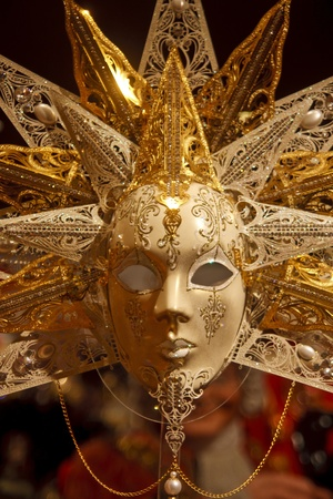 A fancy venetian or mardi gras mask photo