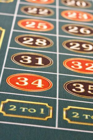 Closeup of a Roulette Table with Odds Stock Photo - 12383017