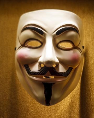 케이스에있는 시위자 익명의 가면