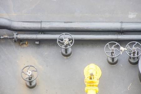 Pipes and Valves on an industrial barge