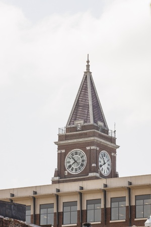 king street: Clock tower on the King Street Train Station Tower in Seattle