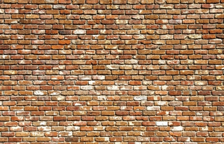 An old brick wall good for backgrounds or textures