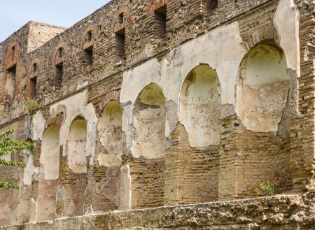 niches: Niches in walls for statuary in ancient city of Pompeii