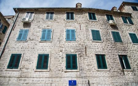 Old police department building in Kotor, Montenegro Stock Photo