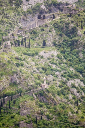 switchback: Steep paths up Montenegro mountain with chapels at rest points