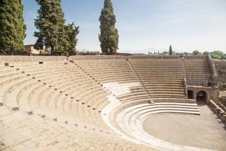 Ancient arena in the ruins of Pompeii Reklamní fotografie