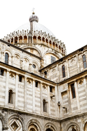 ornately: An ancient, ornately decorated, domed church in Pisa, Italy