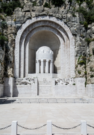 a memorial to fallen soldiers: A granite memorial to fallen soldiers in Nice in the south of France