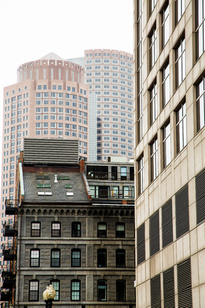 massachussets: Classic old stone and modern high rise buildings in Boston, Massachussets