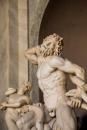 italian fresco: Statue of Hercules in the Vatican Museum Stock Photo