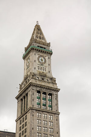 Great View Of The Custom House Clock Tower In Boston Photo