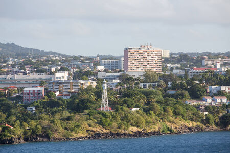 Luxury Condos on the coast of French Martinique Stock Photo