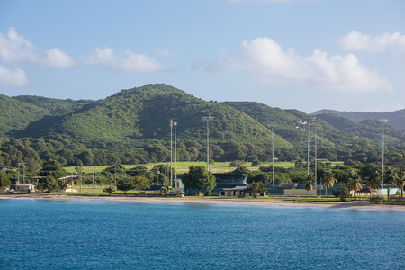 cricket field: A cricket field on the coast of St. Croix