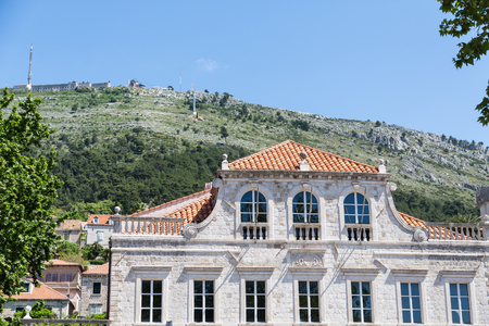 Old Stone buildings in the walled city of Dubrovnik, Croatia