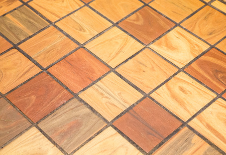 tile flooring: Wood finished quarry tile for background or textures