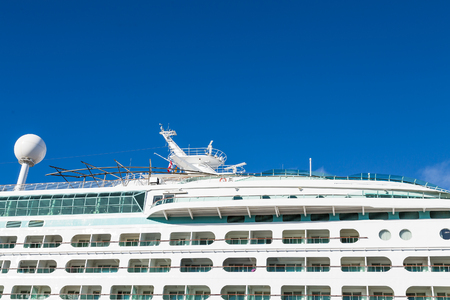 verandas: Verandas on the top decks of a luxury cruise ship Stock Photo