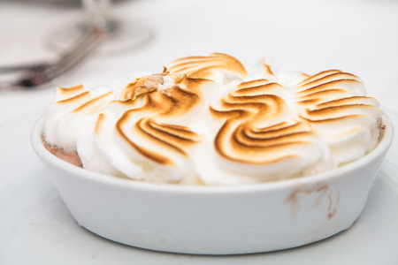 browned: Baked Alaska topped with fresh meringue browned on top